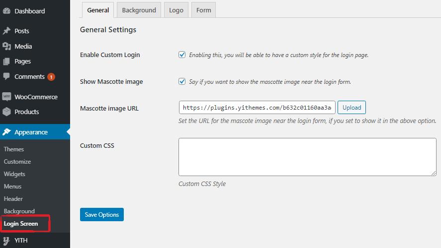login settings