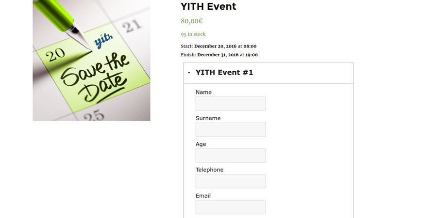 Event ticket form