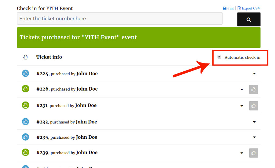 Yith Event Tickets Check In Ticket