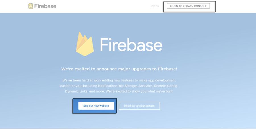 Firebase site