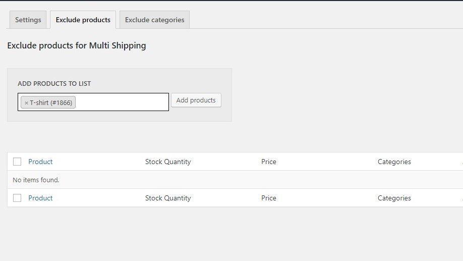 exclude products from multi-shipping