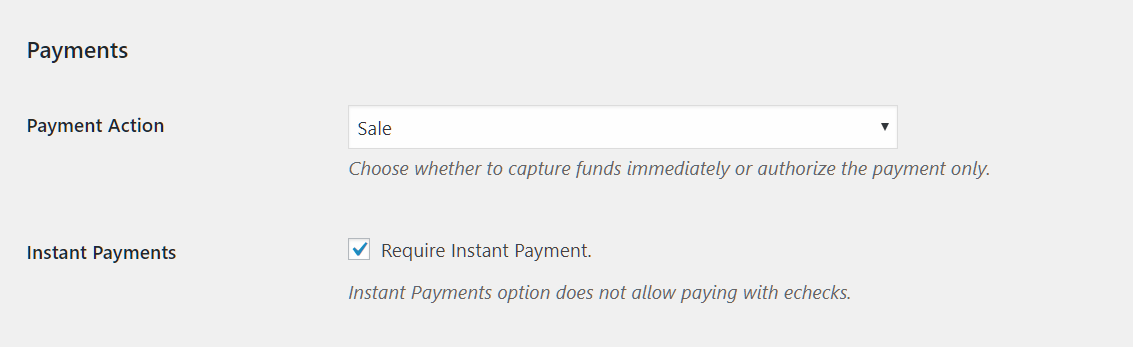 YITH PayPal Express Checkout: Instant and authorize payment options
