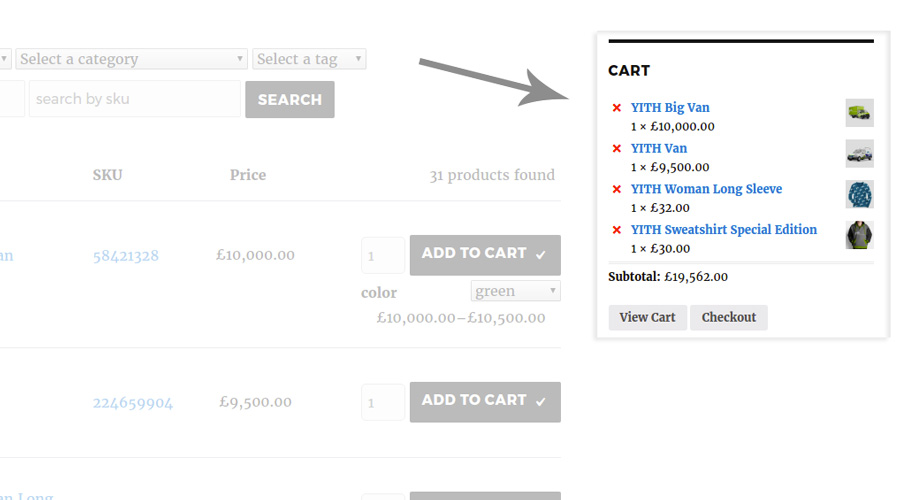 WooCommerce Cart Widget