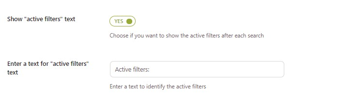 Show active filters