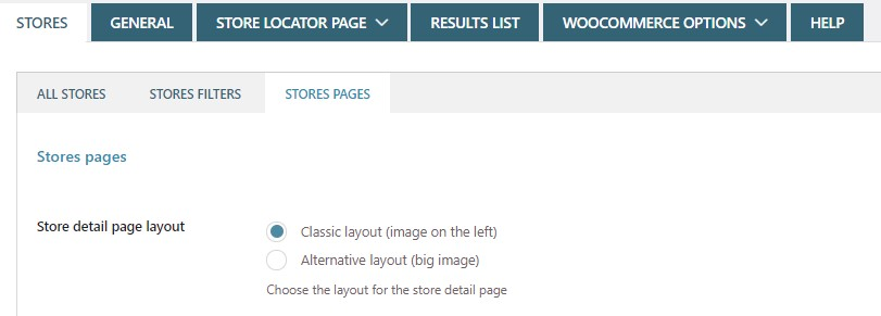 Store pages layout
