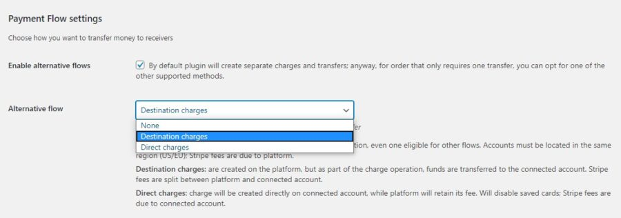 Payment flow settings 2