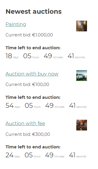 auction widget