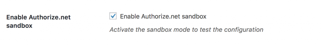 enable sandbox