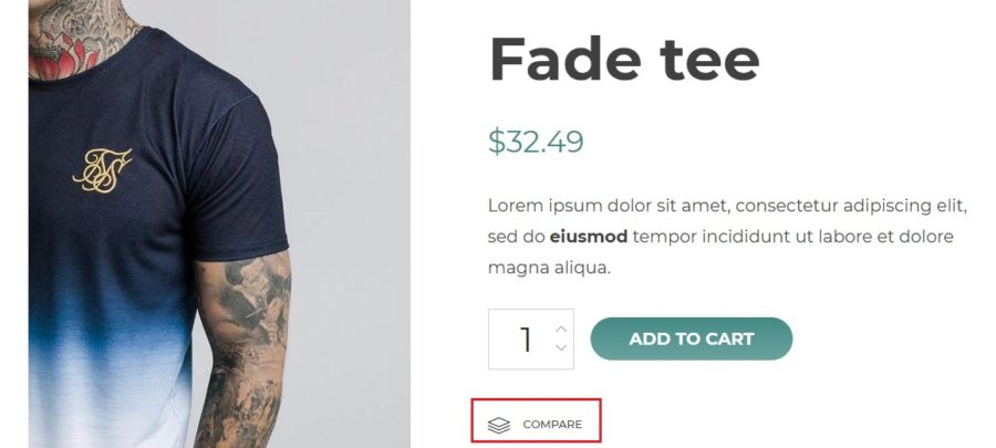 Compare on product page
