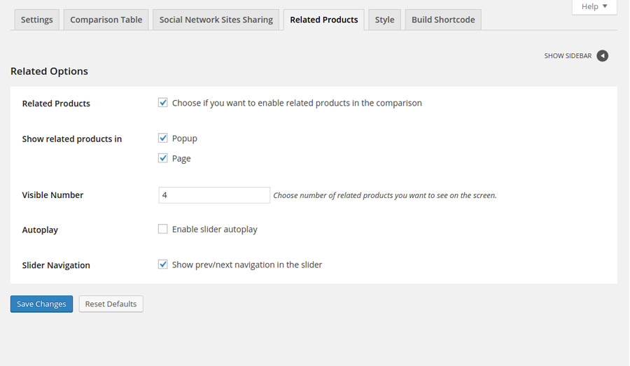 9fcd98e67d04 Activating the Related Products option you can add a slider right after the  table with all the products of the shop that have tags categories in common  with ...