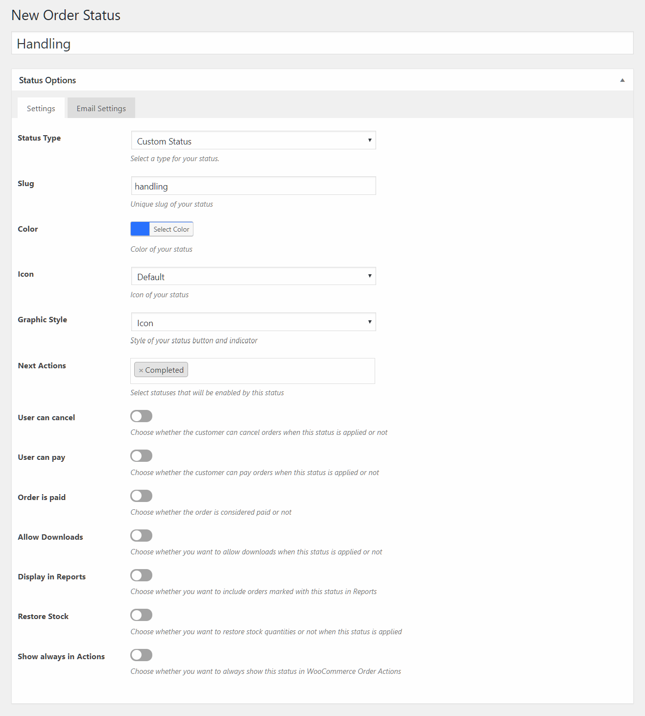 custom-order-status-settings