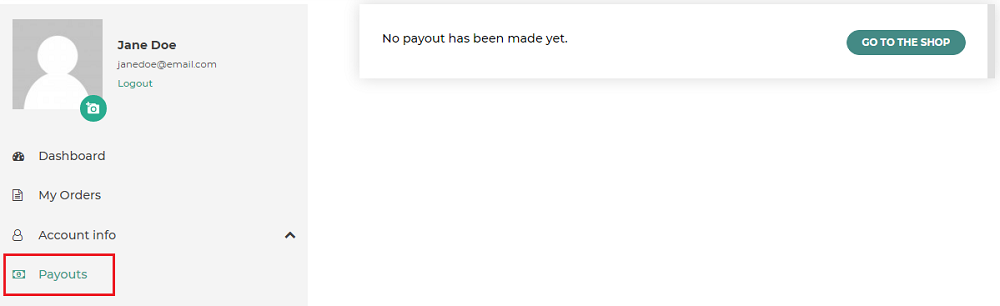 payouts endpoint