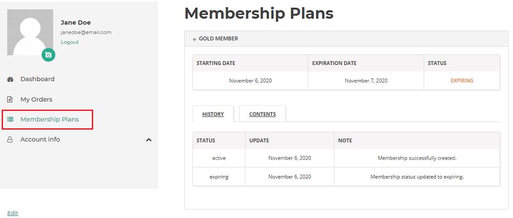 membership endpoint