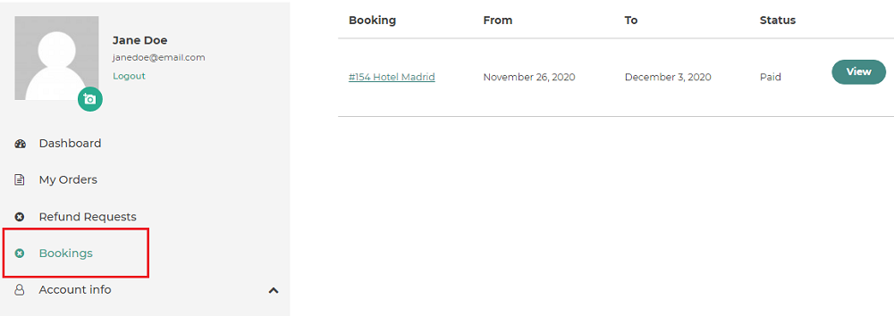 booking integration