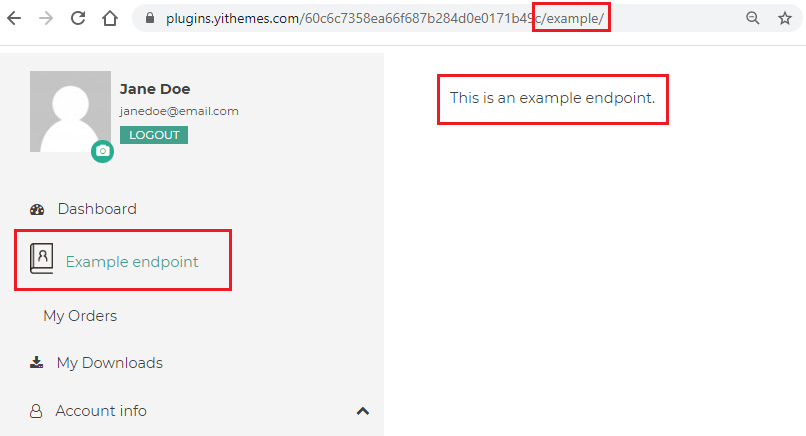 Example endpoint1