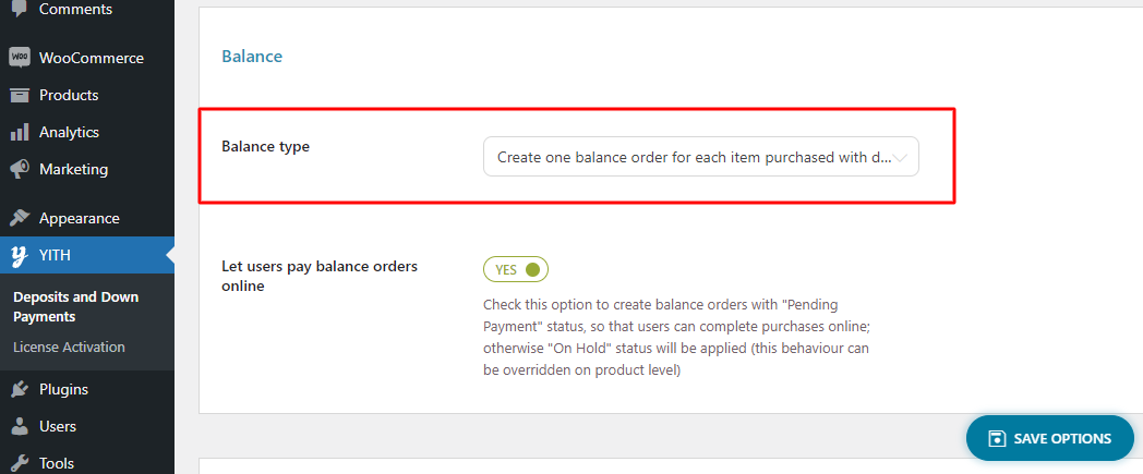 yith-woocommerce-deposits-and-down-payments-balance-settings-docs