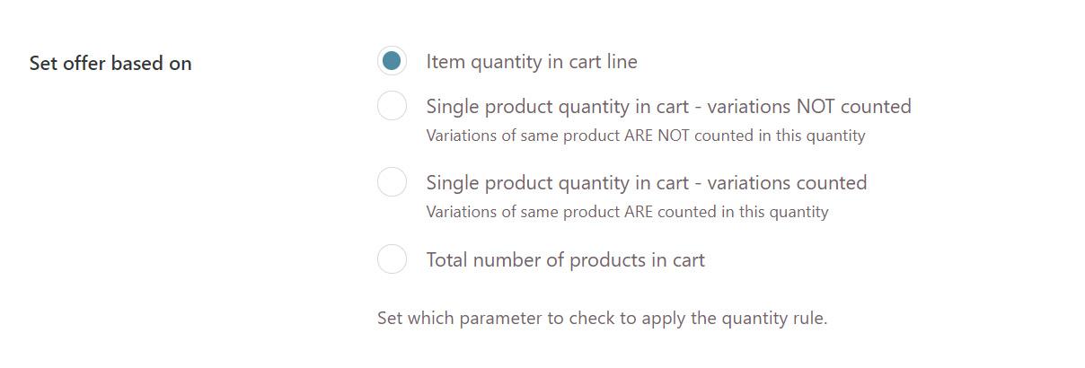 Set offer based on items per line