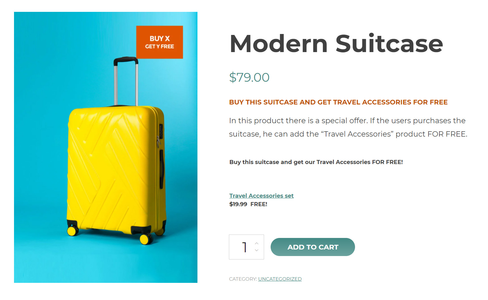 conditional discont for suitcase and accessories