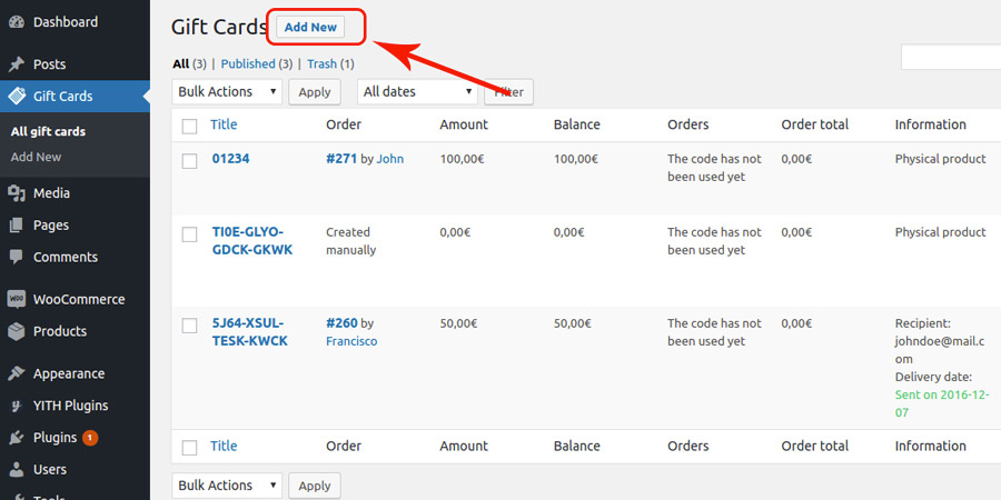 yith gift cards how to create a gift card from backend