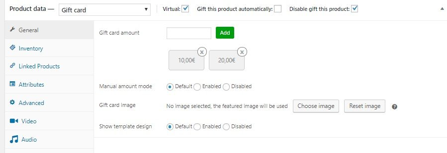 How to disable Gift this product