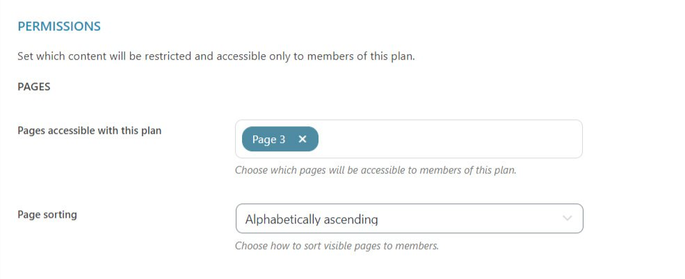 permissions pages