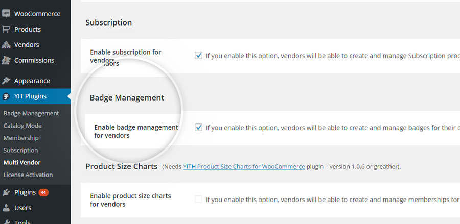Enable badge management for vendors