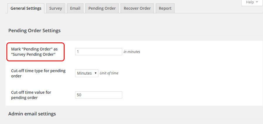 Survey pending order