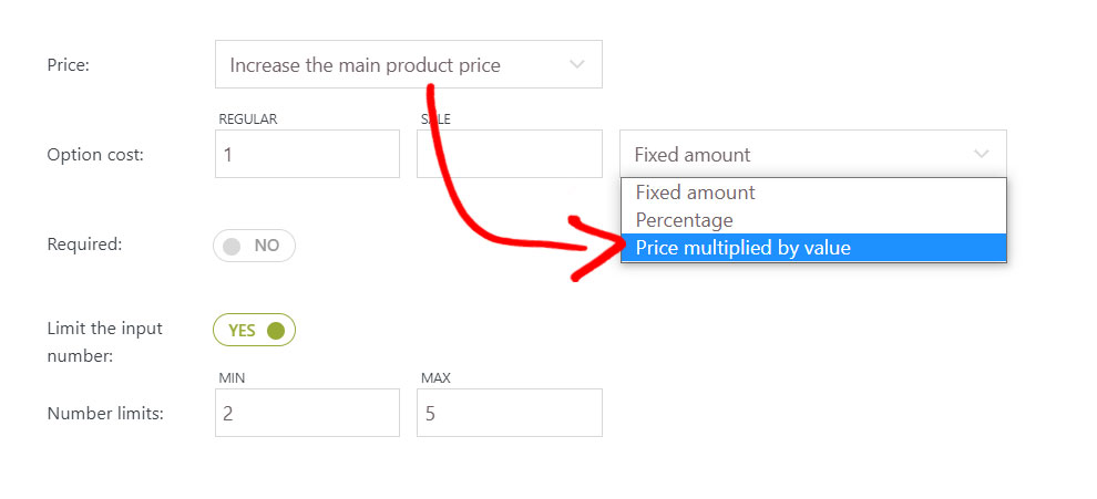 Price multiplied by value