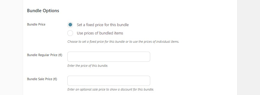 Bundle options 2