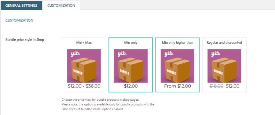 Bundle price style