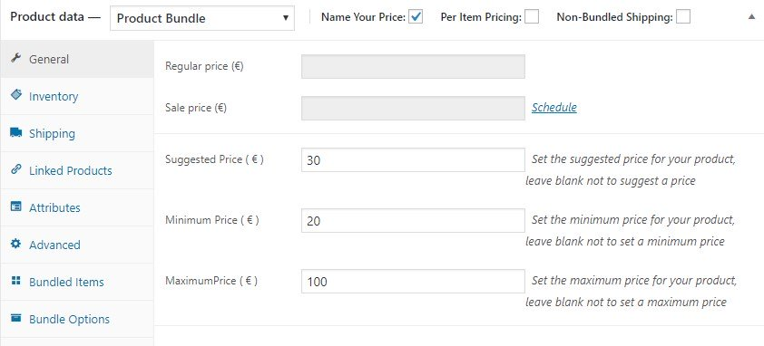 Bundle with name your price