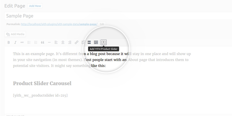 Insert shortcode by WordPress editor