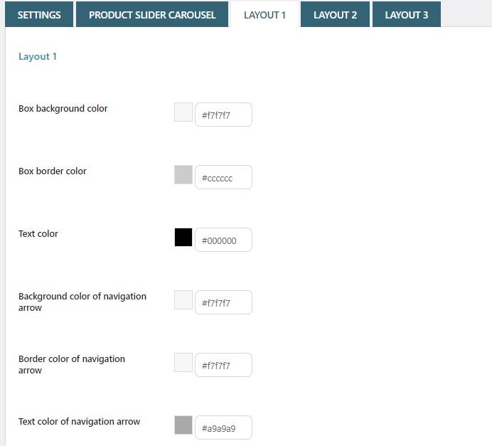 Product slider layout 1
