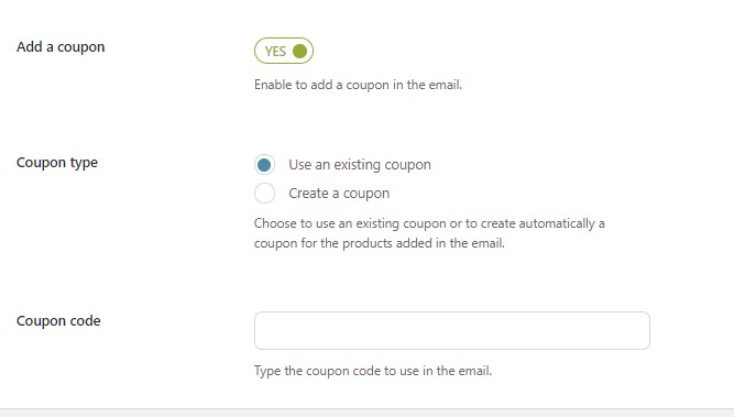 Use an existing coupon