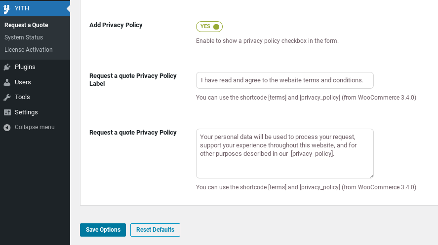 Add privacy policy free