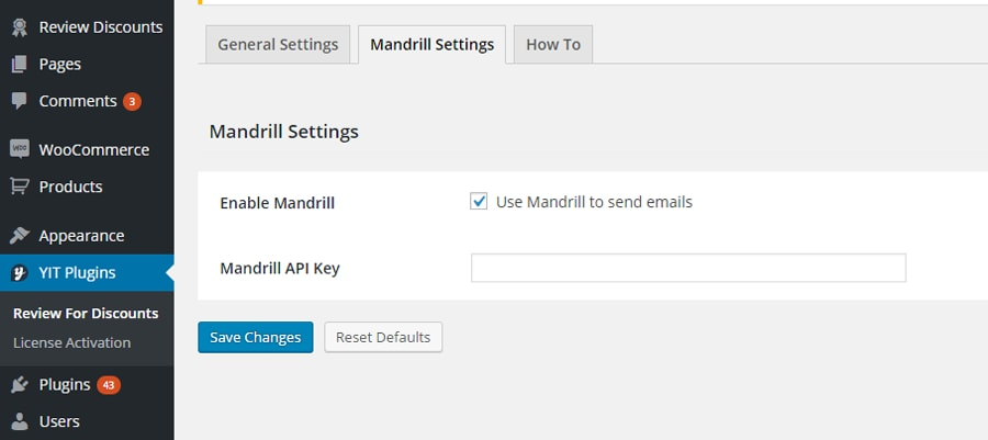 YITH Review for Discounts: Mandrill integration