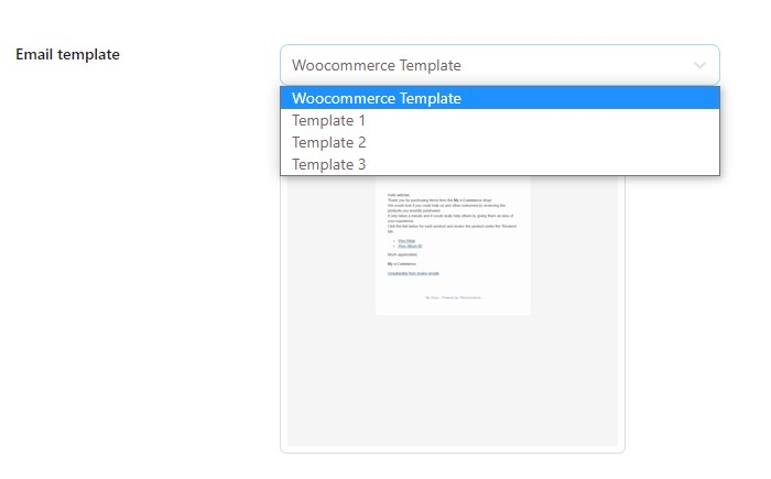 How to choose email template for review reminders