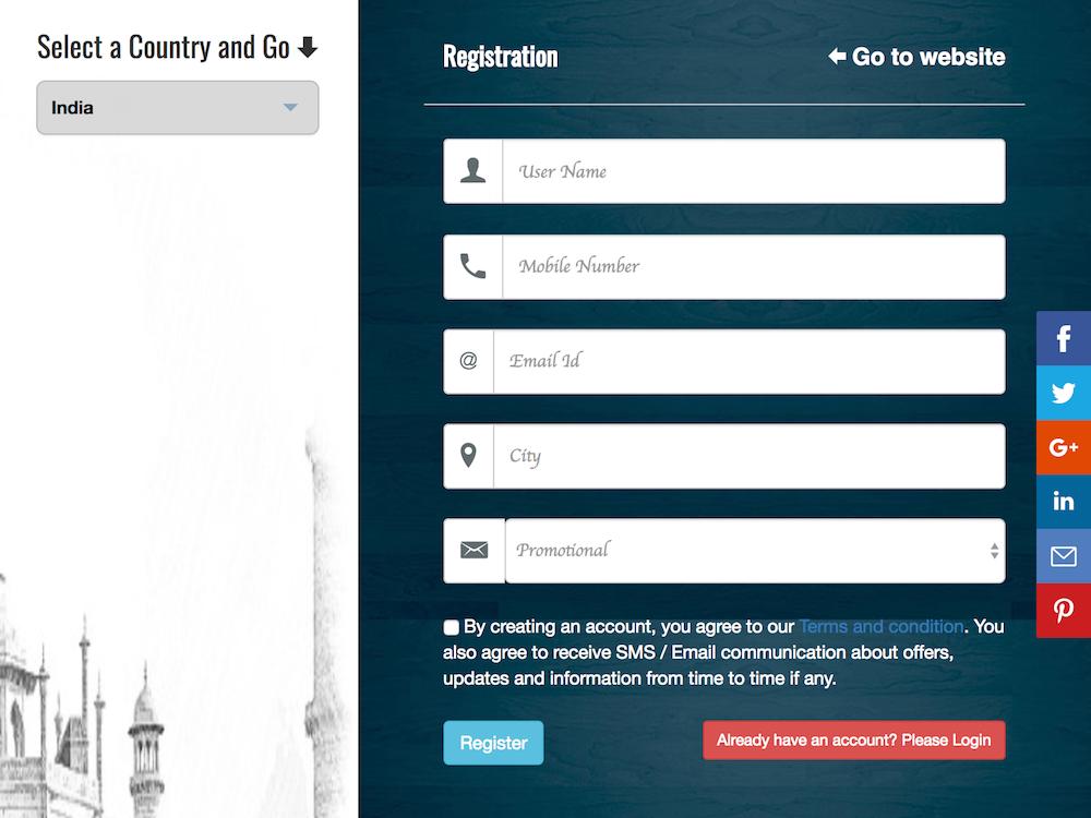 smshub registration