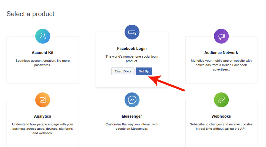 YITH Social Login: Facebook configuration settings