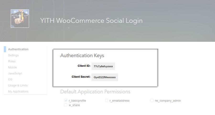 Authentication Keys