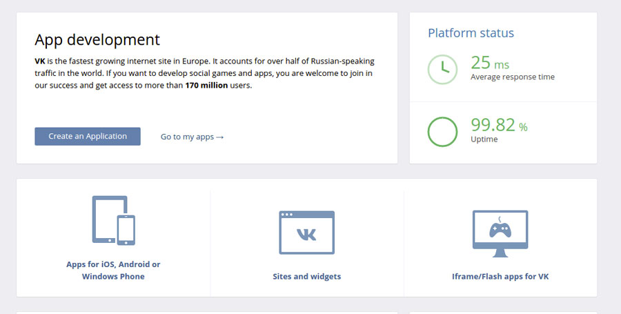 Vkontakte - New application