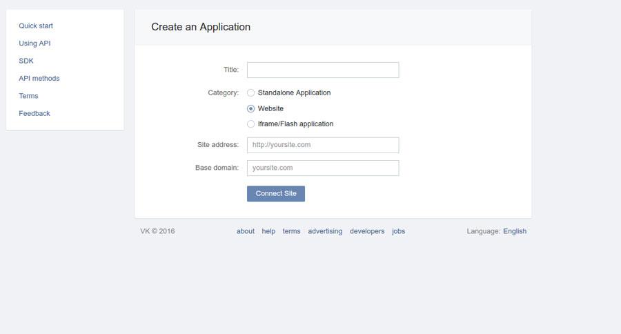 Vkontakte - Compile form