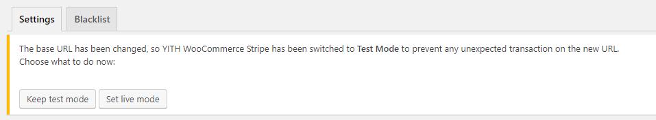 test mode