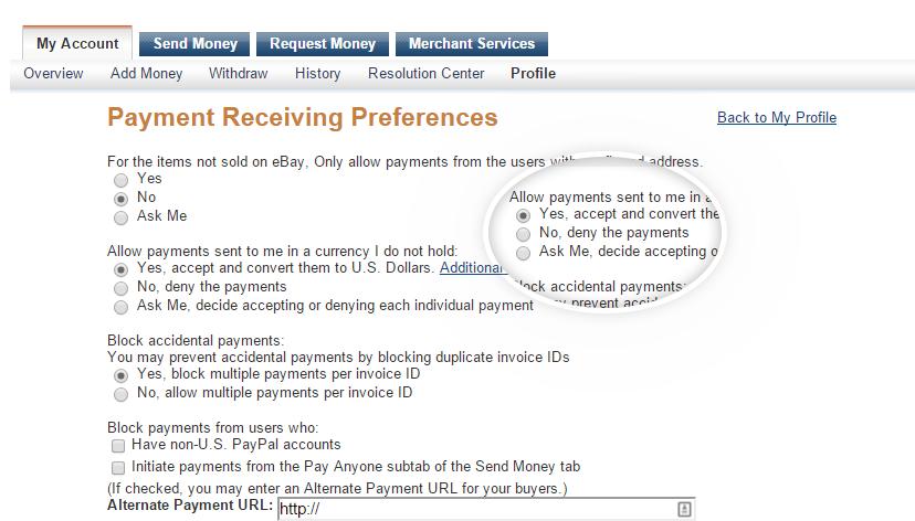 Allow multi-currency payments