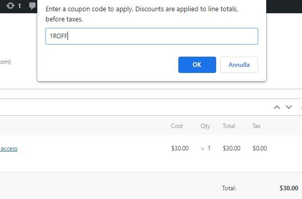 Enter the coupon code
