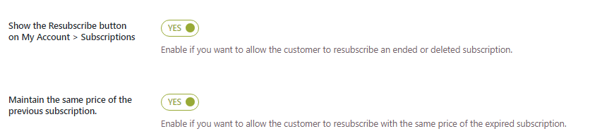 resubscribe option