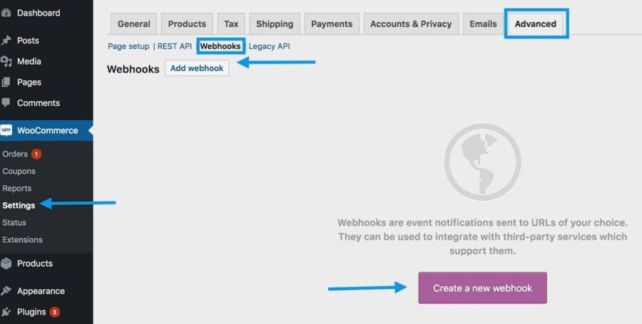 WooCommerce webhooks