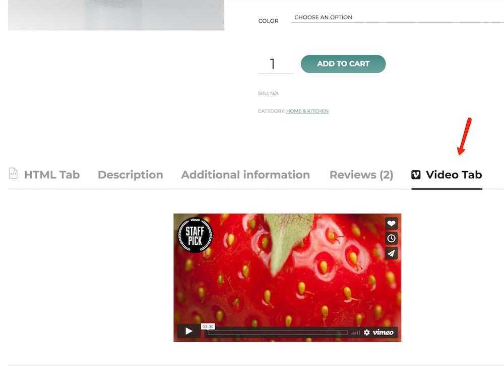 video tab