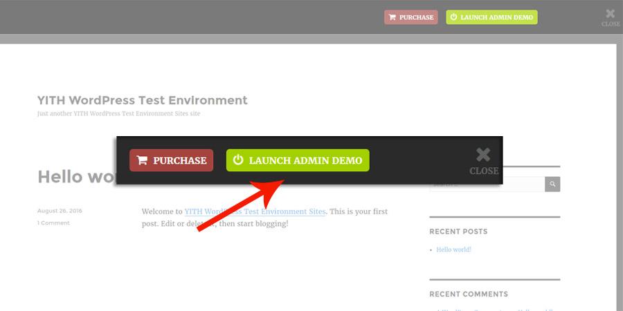 Launch admin demo