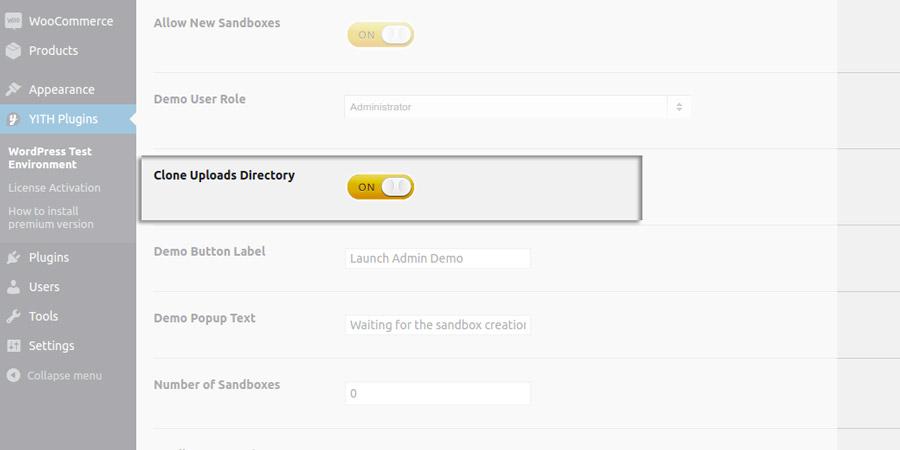 Clone uploads directory